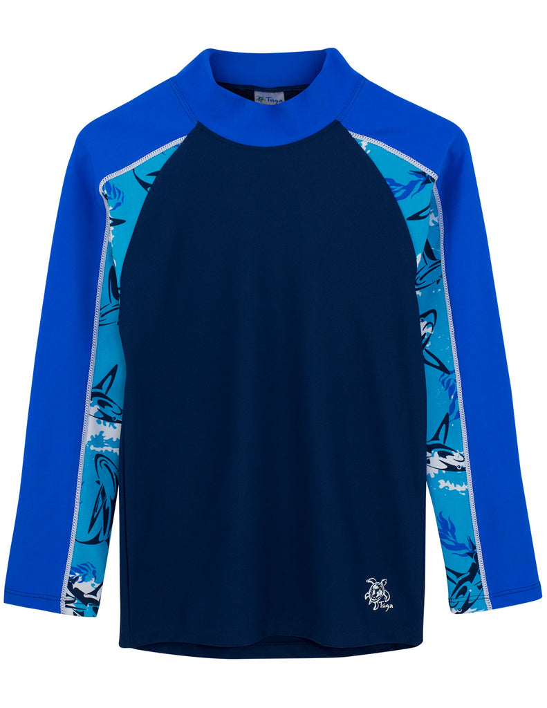 UV50+ Tube Sleeve Rash Guard-Blue