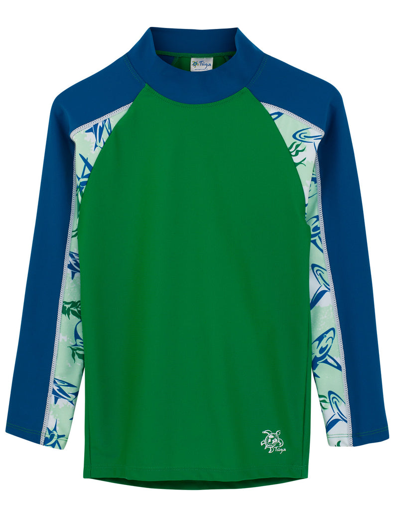 UV50+ Tube Sleeve Rash Guard-Green