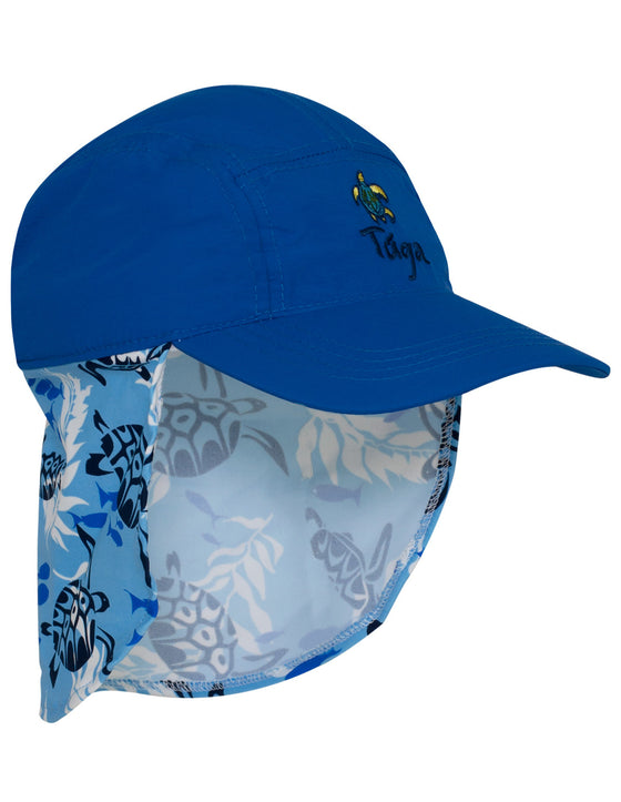 UV50+ Flap Hat-High Sea Blue