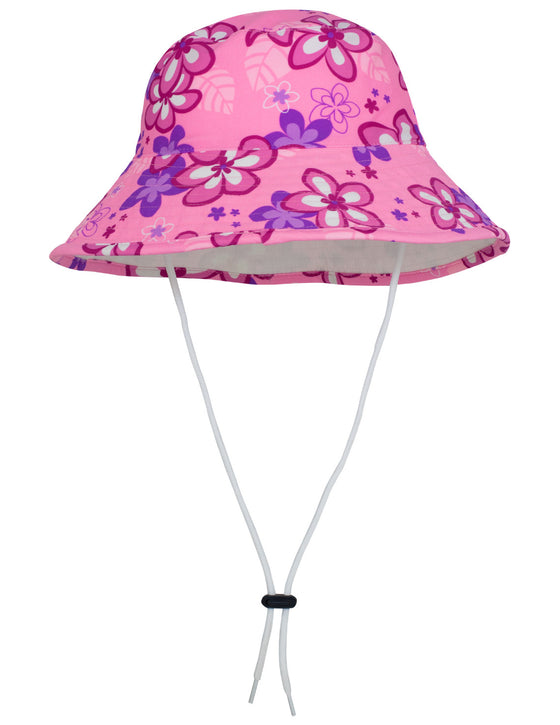 UV50+ Reversible Bucket Sun Hat-Blossom Pink/White