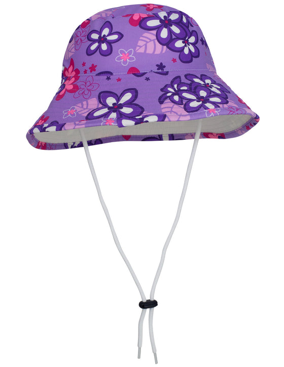 UV50+ Reversible Bucket Sun Hat-Violet/White