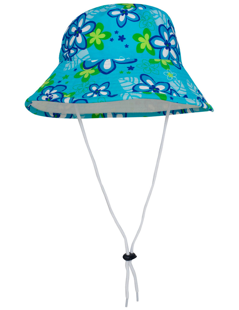 UV50+ Reversible Bucket Sun Hat-Aquamarine/White