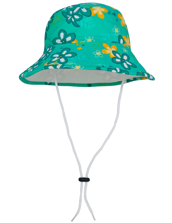UV50+ Reversible Bucket Sun Hat-Seafoam/White