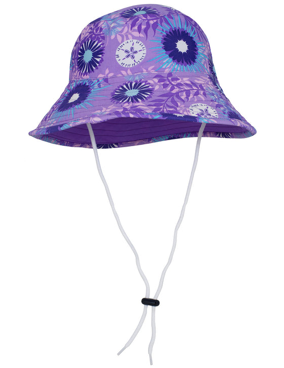 UV50+ Reversible Bucket Sun Hat-Floral/Iris