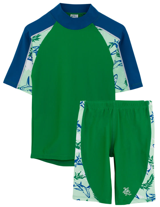 UV50+ Breaker Swim Shirt & Jammers-Verdaro Green