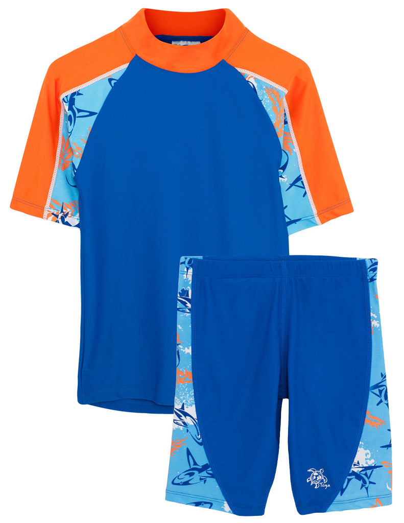 UV50+ Breaker Swim Shirt & Jammers-Royal Fuego