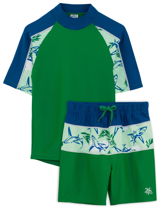 UV50+ Breaker Swim Shirt & Shorts-Verdero Green