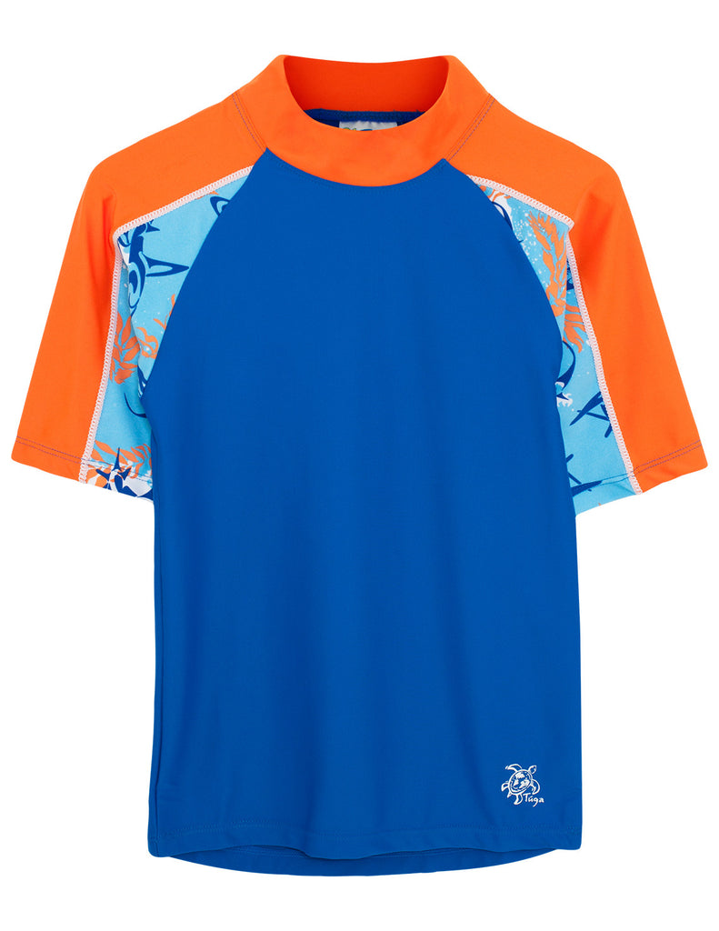 UV50+ Breaker Swim Shirt & Shorts-Royal Fuego