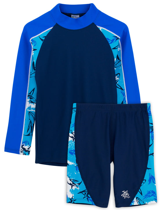 UV50+ Tube Swim Shirt & Jammers-Laguna Blue