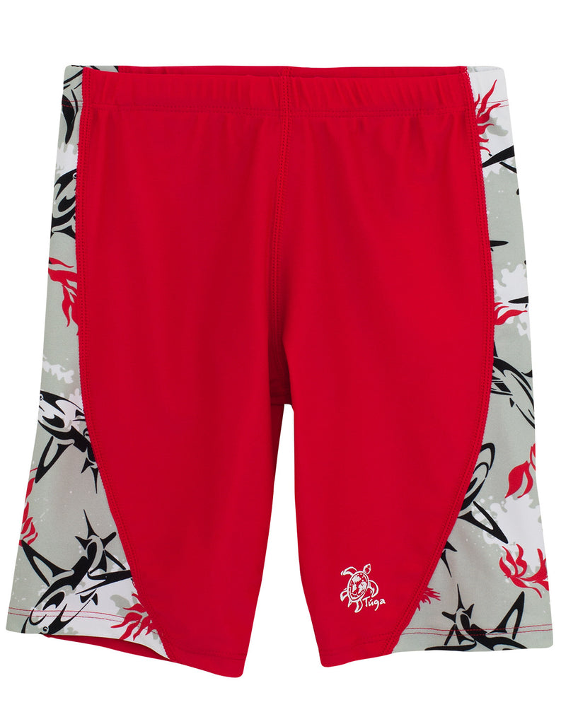 UV50+ Tube Swim Shirt & Jammers-Carmino Red