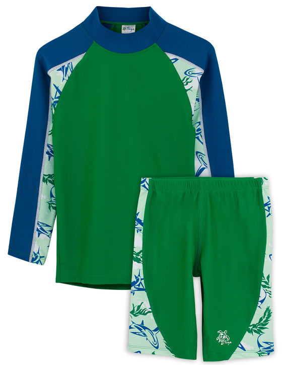 UV50+ Tube Swim Shirt & Jammers-Verdaro Green