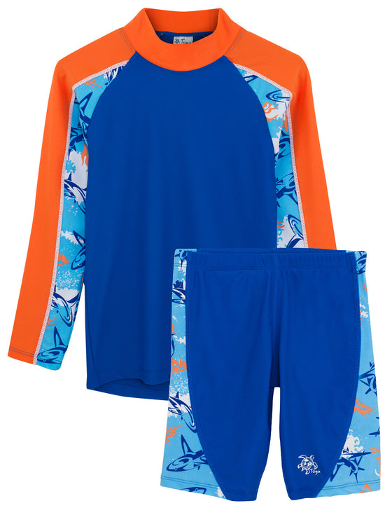 UV50+ Tube Swim Shirt & Jammers-Fuego Blue