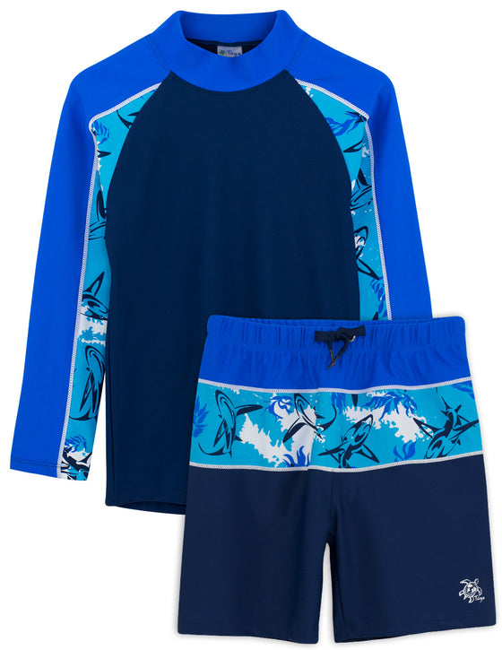 UV50+ Tube Swim Shirt & Shorts-Laguna Blue