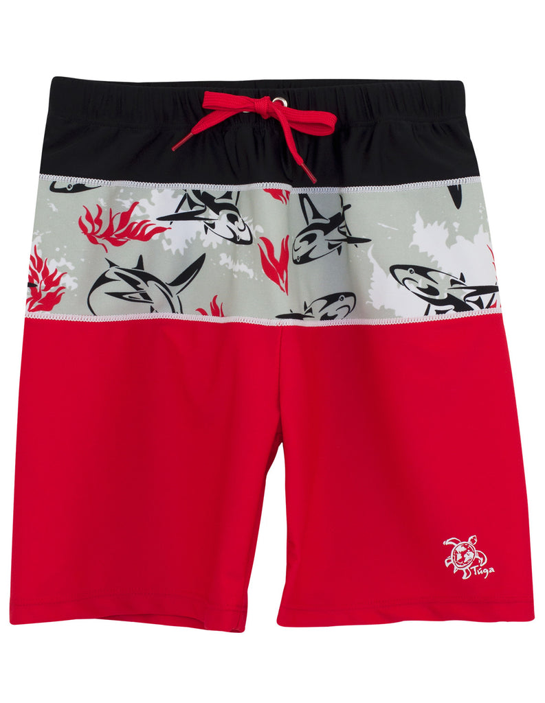UV50+ Tube Swim Shirt & Shorts-Carminio Red