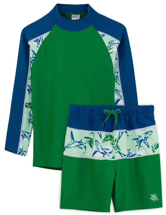 UV50+ Tube Swim Shirt & Shorts-Verdero Green