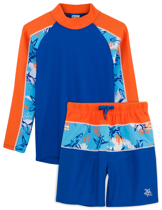 UV50+ Tube Swim Shirt & Shorts-Fuego Blue