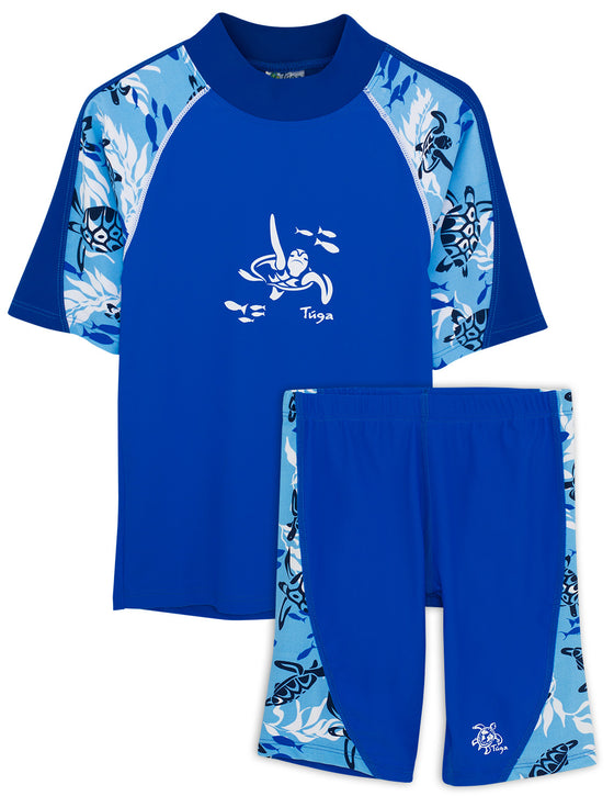 UV50+ Offshore Swim Shirt & Jammers-High Sea Blue