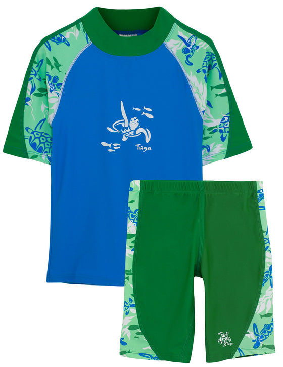 UV50+ Offshore Swim Shirt & Jammers-Moss Green