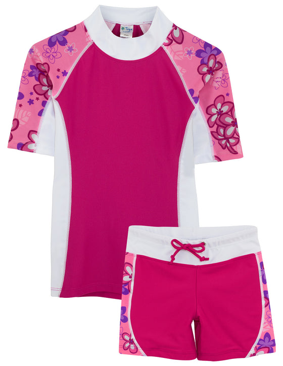UV50+ Seaside & Swim Shorts-Blossom Pink