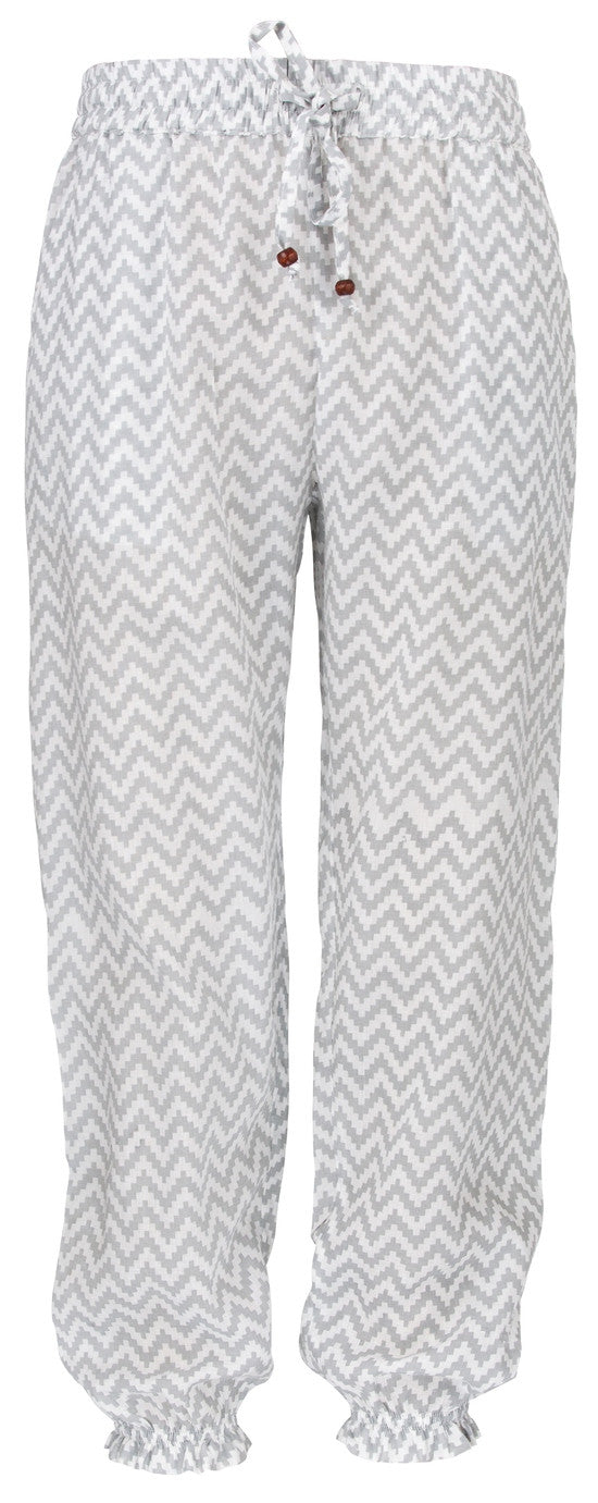 UV50+ Beach Pants- Grey Chevron