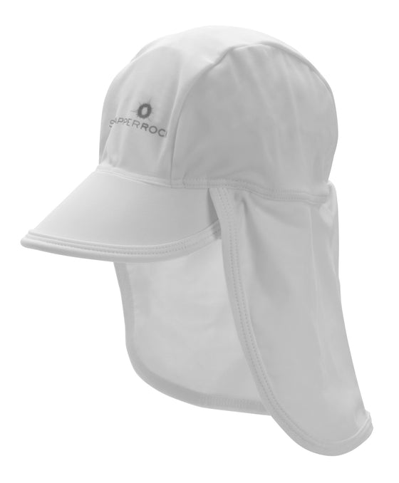 UV50+ Flap Hat- White