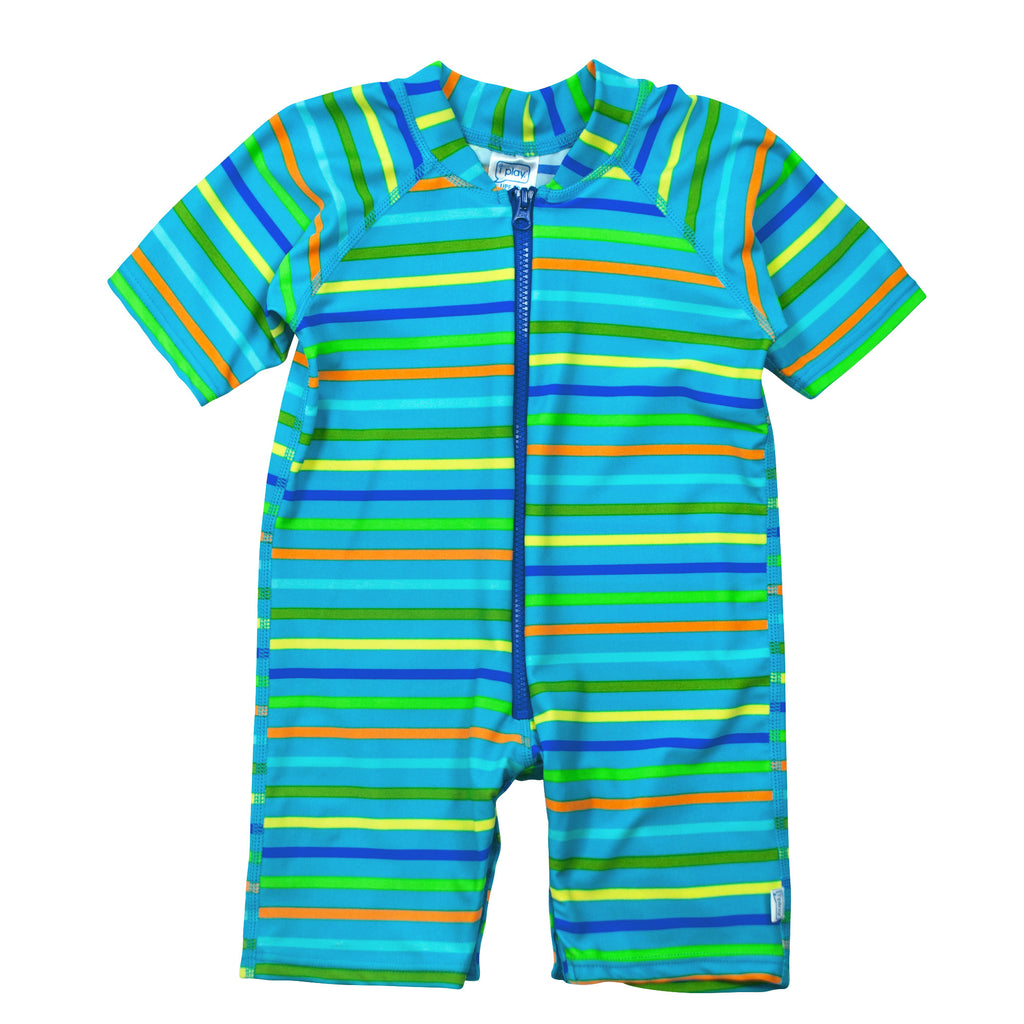 UV50+ Baby/Toddler Sun & Swim Suit-Blue Stripes