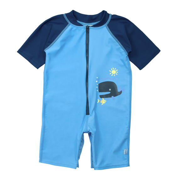 UV50+ Baby/Toddler Sun & Swim Suit-Blue Whale