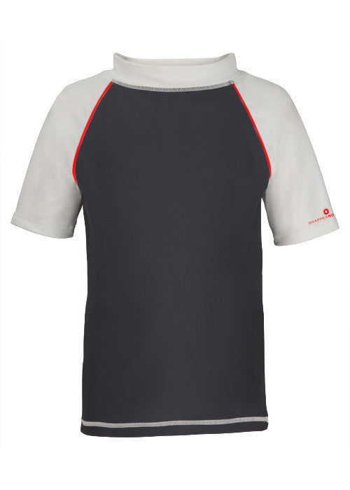 UV50+ Slate & White Short Sleeve Rash Top
