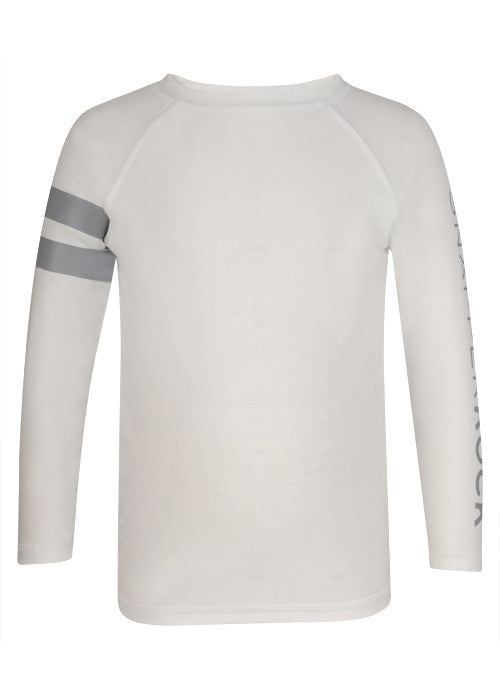 UV50+ White with Slate Arm Band Long Sleeve Rash Top