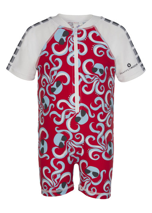 UV50+ Octopus Short Sleeve Sunsuit