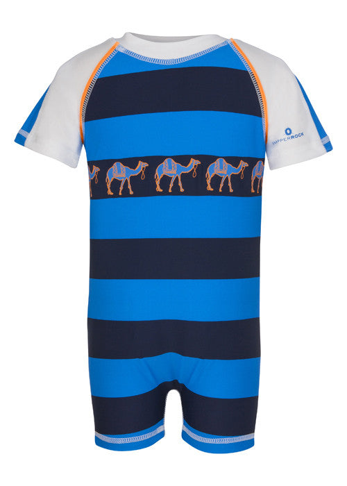 UV50+ Camel Stripe SS Sunsuit