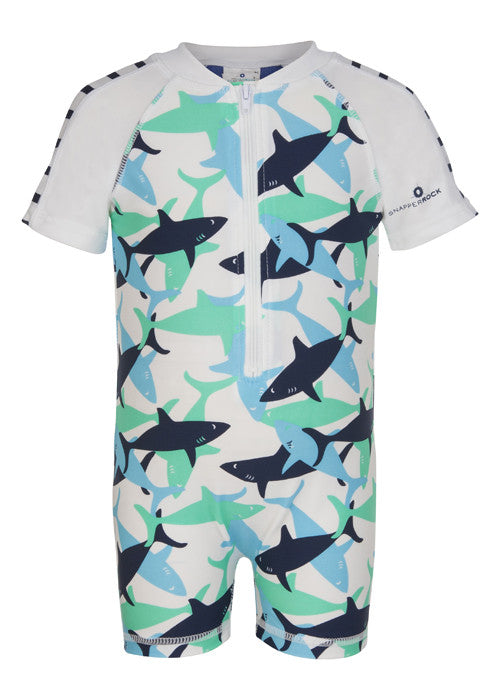 UV50+ Shark Short Sleeve Sunsuit