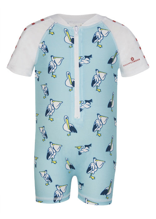 UV50+ Pelican Short Sleeve Sunsuit