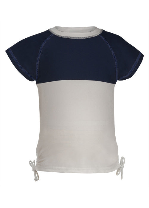 UV50+ Navy/White Colorblock Rash Top