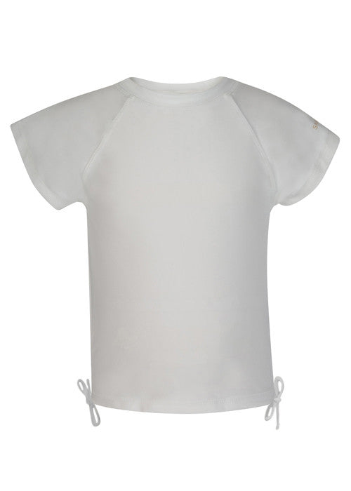 UV50+ White Gold Logo Short Sleeve Rash Top