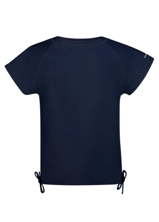 UV50+ Navy Logo Short Sleeve Rash Top