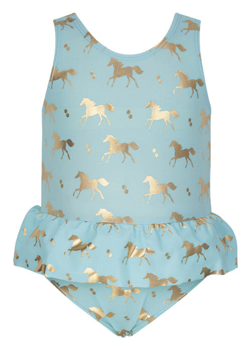 UV50+ Gold Horse Skirt Swimsuit