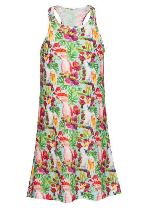 Tropical Birds Swim Dress