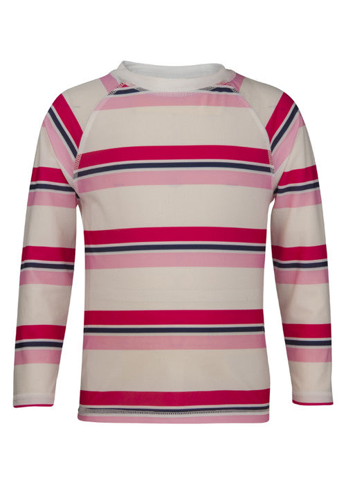 UV50+ Pink/Navy Cabana Stripe LS Rash Top
