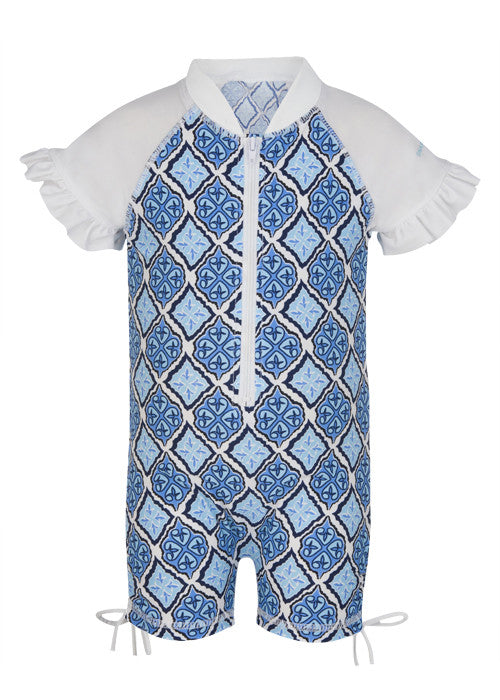 UV50+ Moroccan Short Sleeve Sunsuit