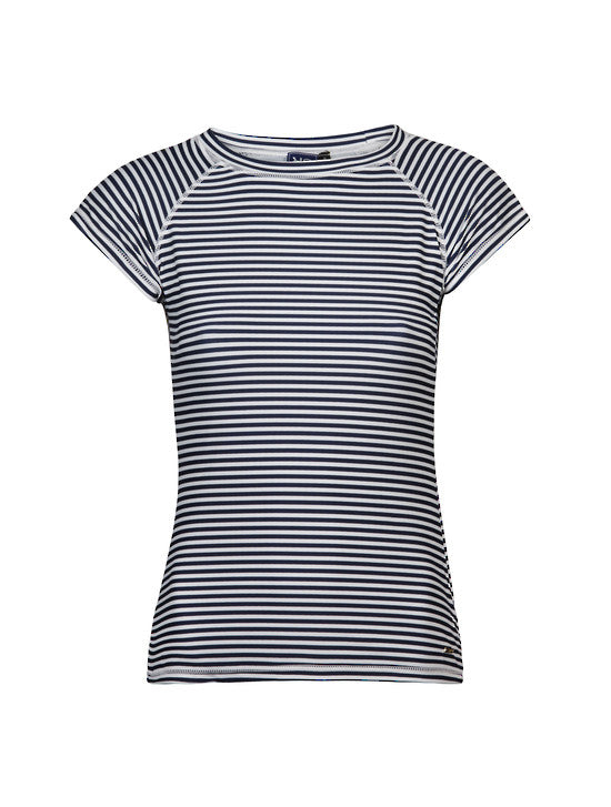 UV50+ Waiheke Stripe Short Sleeve Rash Top
