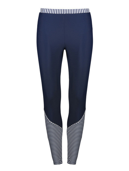 UV50+ Navy/Waiheke Stripe Leggings
