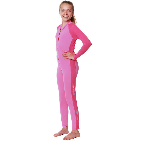 UV50+ Full Sun Coverage Wrist to Ankle Sunsuits-Pink Bahama