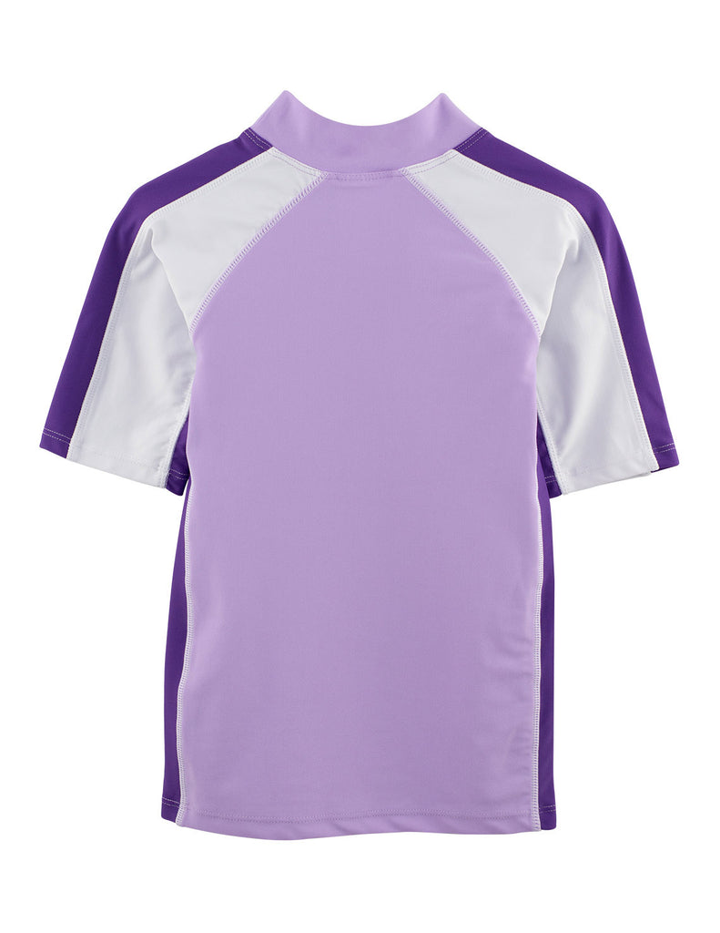 UV50+ Mimosa Purple Short Sleeve Swim Shirt -Chlorine Resistant