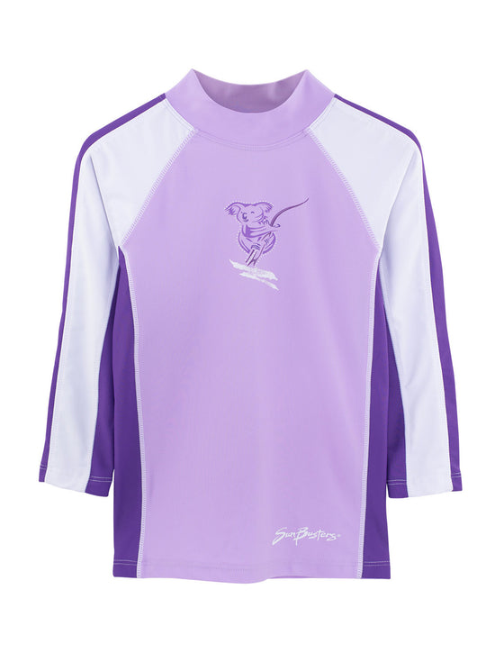 UV50+ Purple Mimosa Long Sleeve Swim Shirt -Chlorine Resistant