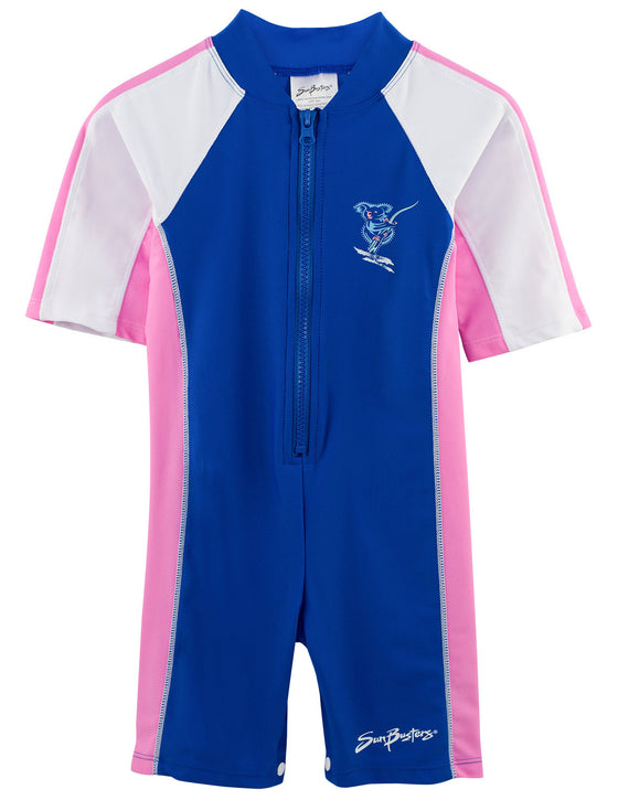 UV50+ Short Sleeve Sunsuit-Buttercup Blue