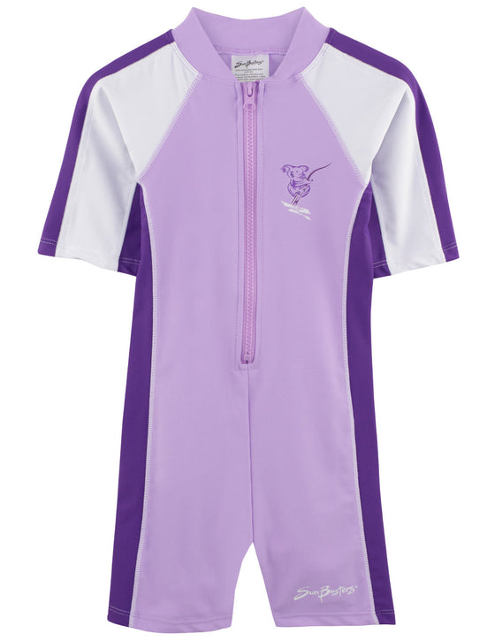 UV50+ Short Sleeve Sunsuit-Mimosa Purple