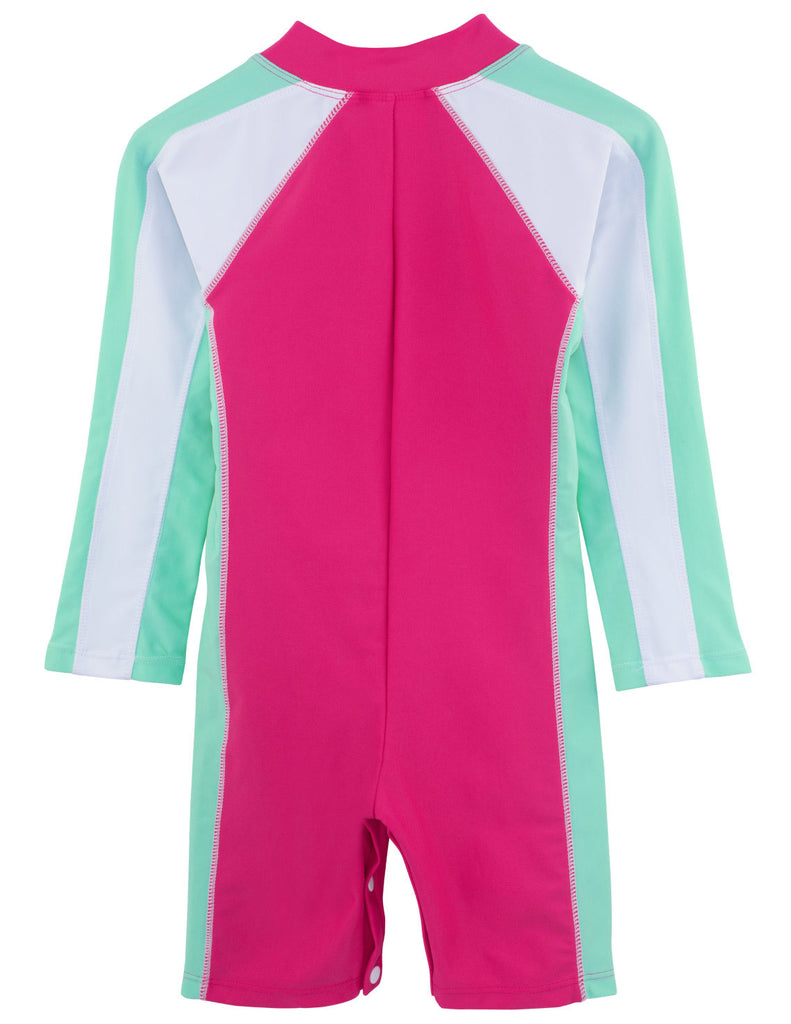 UV50+ Long Sleeve Sunsuit-Poppy Pink