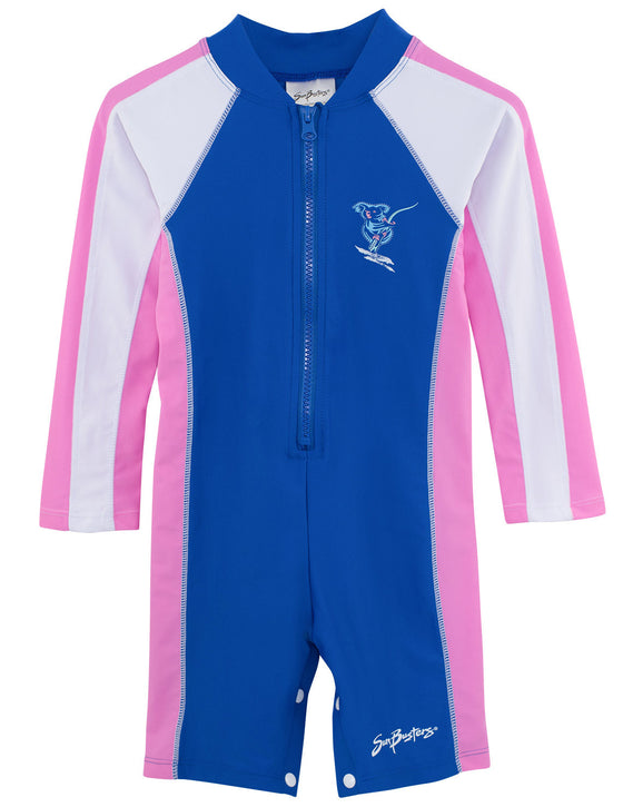 UV50+ Long Sleeve Sunsuit-Buttercup Blue