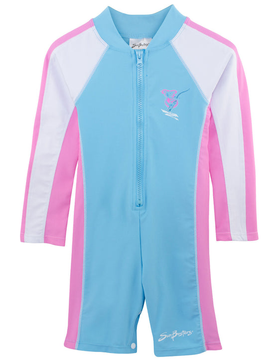 UV50+ Long Sleeve Sunsuit-Mallow Turquoise